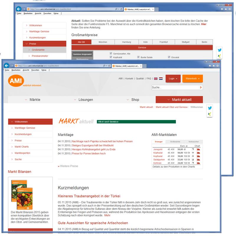Markt aktuell Gemüse | Schnupper-Abonnement
